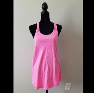 VS PINK Extra Long Racerback Tank Top with Lace